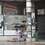 street musician in Zagreb
